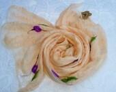 Peach Rosebud Cobweb Scarf