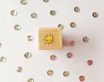 Square Stamp Sun, 1, 5 cm wide, 1, 5 cm long