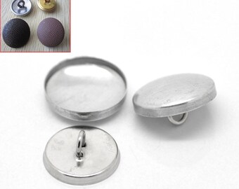 """20 Wire Back Cover Buttons, size 32, 6/8"""", 19mm"""