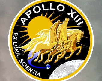 Apollo 13 Stickers - Eight 2 Inch Stickers - Weatherproof Vinyl with Laminate Overlay 2-0063