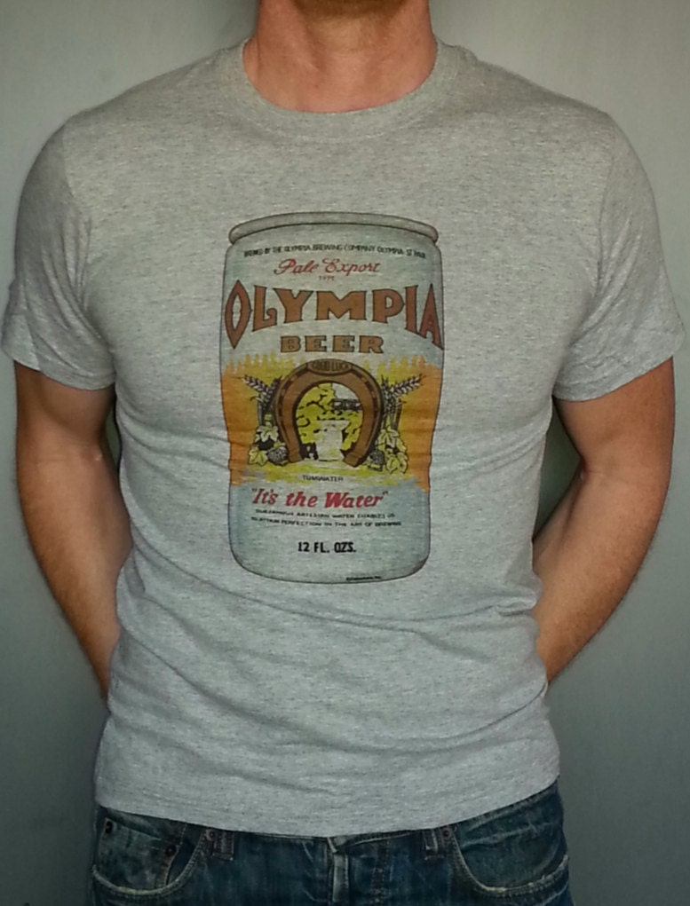 olympia beer t shirt new vintage style it 39 s the. Black Bedroom Furniture Sets. Home Design Ideas