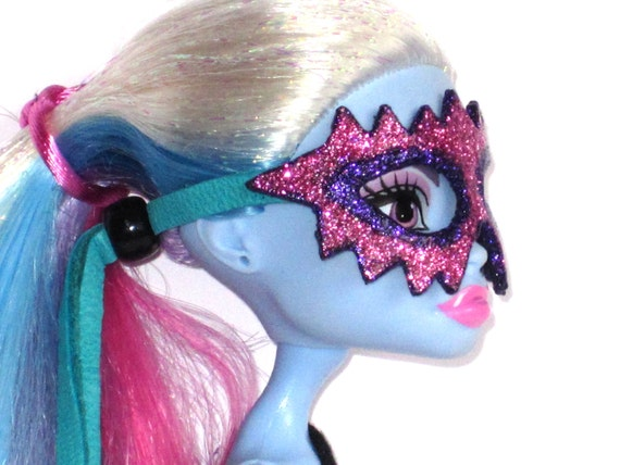 Doll mask for monster high and others pink and purple - Masque monster high ...