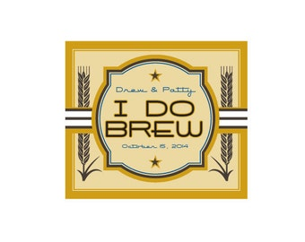 Wedding Beer Label - Custom Beer Bottle Labels - Personalized Beer Label
