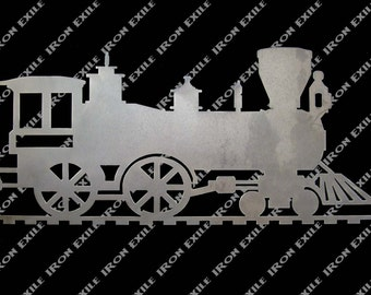 Locomotive Engine Railroad Metal Art Plamsa Cut Wall Sign Great Gift Idea
