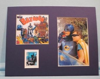 DC Comic Book Superheroes - Adam West & Burt Ward as TV Heroes Batman and Robin honored by the Batman stamp