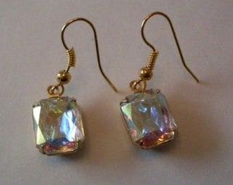 Wedding Earrings Aurora borealis  Crystal Bostonbackbay !  We Ship Internationally