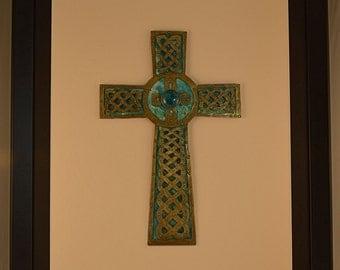 St. John 3:16 Multi Layer Metal Cross Celtic Knotwork Wall Hanging