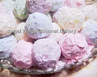 Russian Tea Cakes, (Walnut) 10 dozen,Pastel Wedding Dessert Buffet Gourmet Cookies
