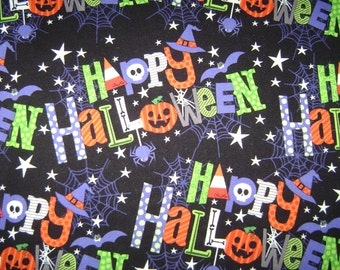 Fabric by the 1/4 Yard - M'Liss Happy Halloween Cotton