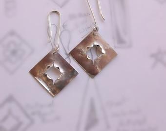 Bullet Hole Silver Earrings