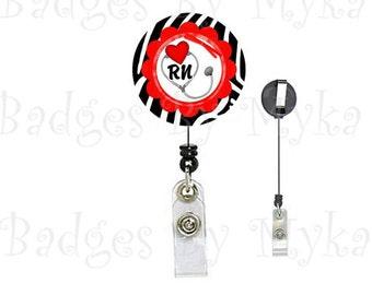 Retractable ID Badge Holder - Cardiac RN