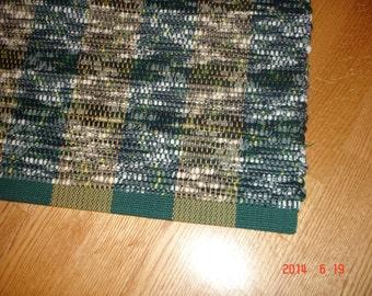 Hand woven rag rug, bedroom rugs, green rugs, large floor rugs, rug runners, green rugs, small rugs, hallway rugs, handwoven rugs, rag rugs