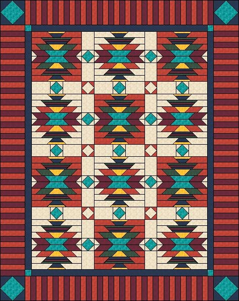 Southwest Quilt Pattern Native American / Indian