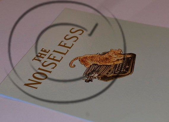 Noiseless Typewriter Water Slide Decal - THE TIGER!