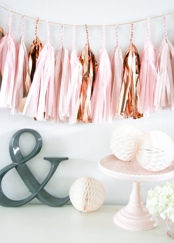Rose gold tassel garland party decoration wedding decor for Decoration maison rose gold