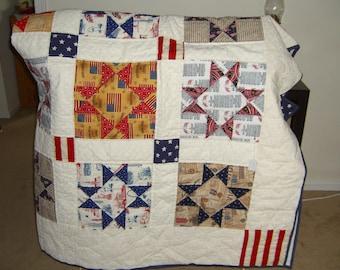 Patriotic handmade quilt