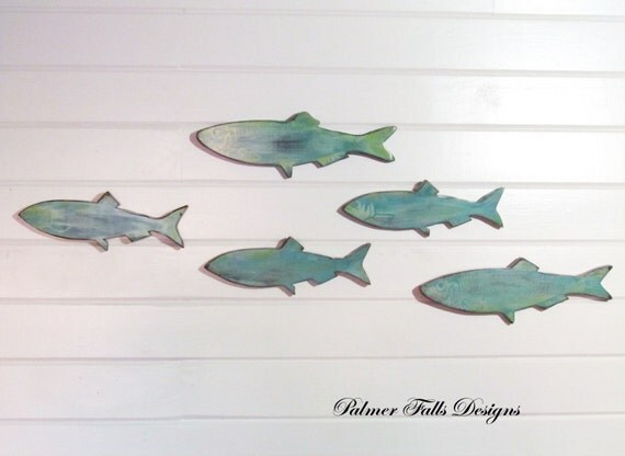 Fish nautical nursery nautical decor fish wall art nautical