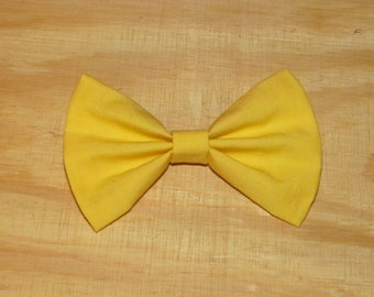 Yellow Hair Bow