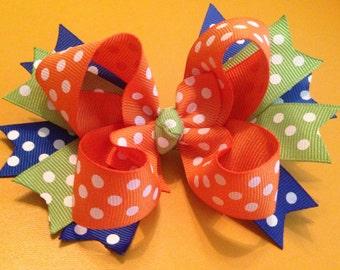 Polka Dots, Colorful Hair Bow, Hair Bow, Boutique Hair Bow, Hair Bow for Girls, Toddler Hair Bow, Infant Hair Bow, Summer Hair Bow