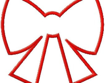 Bow Silhouette Applique Embroidery Design