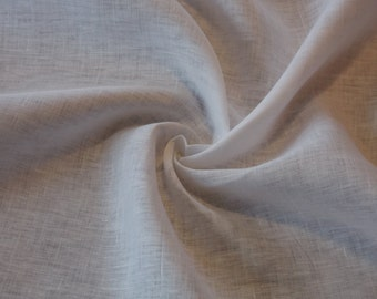 Light-weight White Linen fabric by the yard