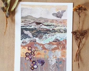 Lakeside Wild Carrot Flower- Archival Print