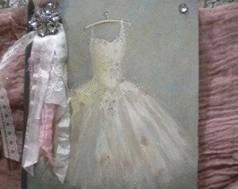 Paris Inspired Altered Journal of Vintage Dress