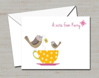 """Personalized Note Cards, Mother's Day gift, Stationery 4.5"""" X 5"""""""