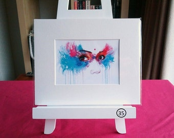 Small Mounted Print: Eyes on You
