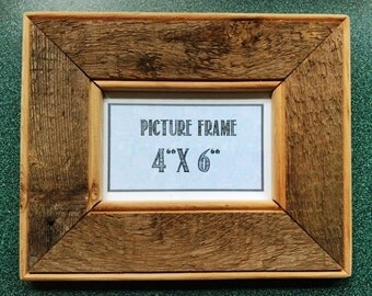 """Rustic Reclaimed Wood Picture Frame 4"""" x 6"""""""