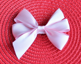 Pink 3 Inch Pinwheel Hair Bow - Black Pinwheel Hair Bow - White Pinwheel Hair Bow