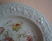 Homer Laughlin Bowl Floral Eggshell Dish Cottage Chic Decor 1945 Tableware Farmhouse Country Style Dining Pretty Dish