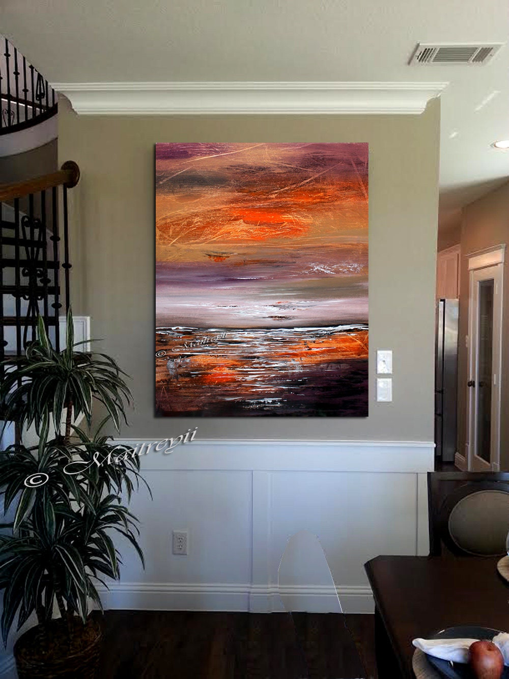 Seascape 40 distant horizon modern wall art on canvas for Cheap canvas paintings for sale