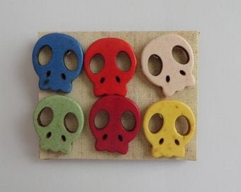 Howlite Skull Push Pins, Thumb Tacks