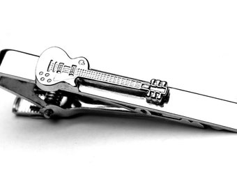 Gibson Les Paul Guitar Tie Clip! Great Gift For Student or Teacher! Jimmy Page