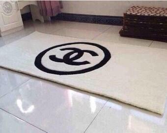 Wonderful Chanel Logo Inspired Black Doormat Mat Rug Bath Mat 20quot By 40