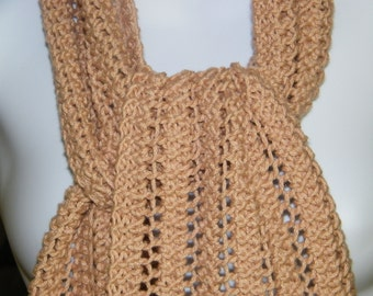 Hand knit lightweight lacy scarf for summer.