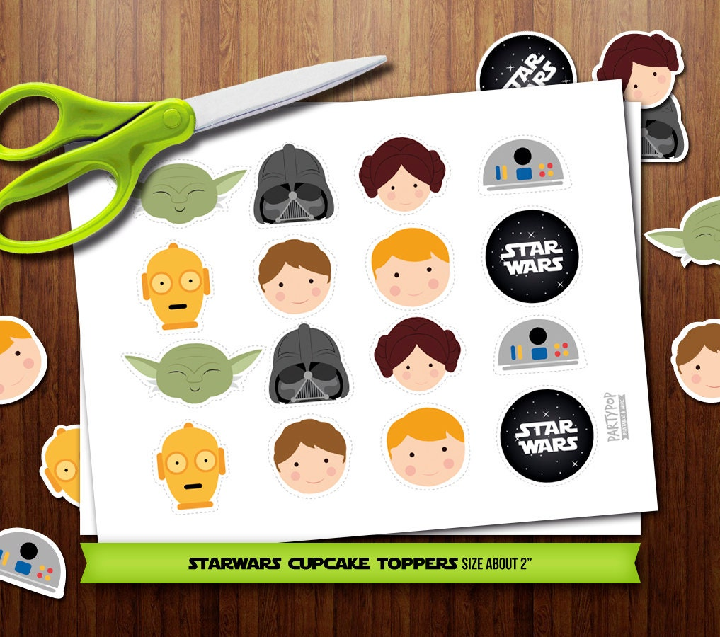 PRINTABLE Star Wars assorted cupcake toppers by PartyPopPrints