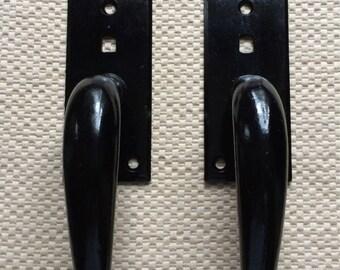 Vintage Front Door Latch Handle Set