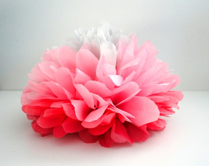 Tissue pom | Pink ombre pom | Paper Flowers | Wedding tabletop decor | Birthday Tabletop Decor