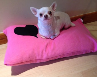 Pink Fleece Dog Pet Puppy Bed