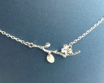 Branch and Flower Necklace