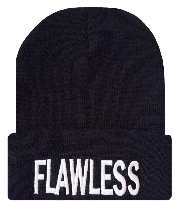 ... Beanies Beanie FLAWLESS Cuffed Hat 3D sayings beanie Hip Cap  DaisysOutlet hats with Hip by ... b39bafe9787