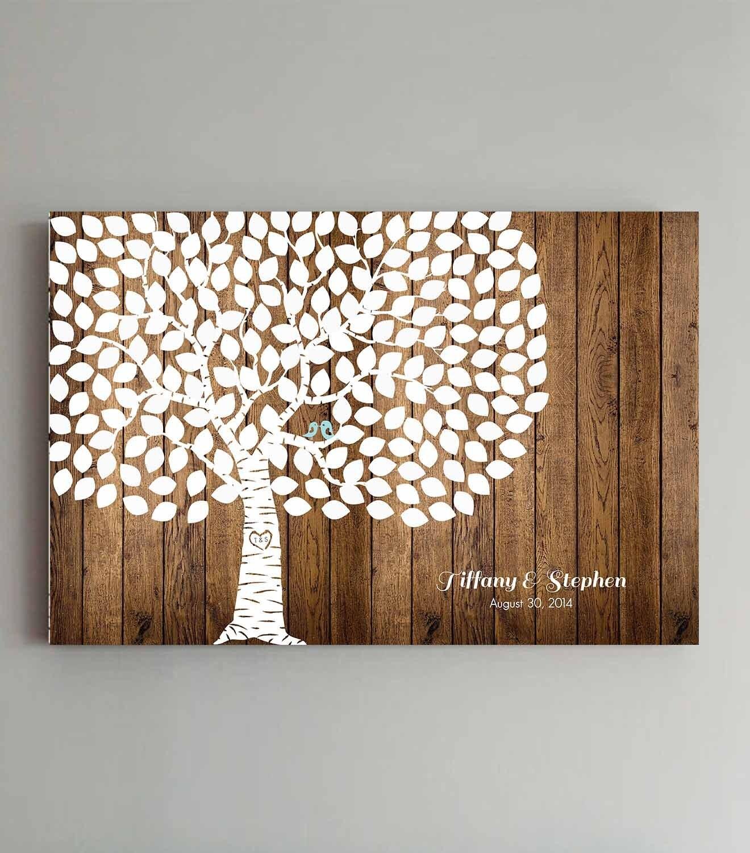 Wedding Tree Guest Book: Wedding Guest Book Wood 200 Guests Wedding Tree Wedding