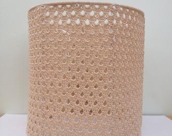 Crochet lampshade in cream