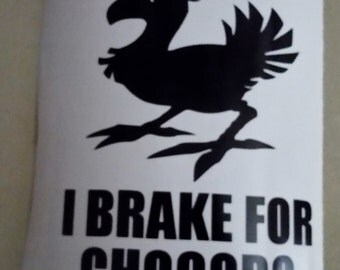 Final Fantasy--- I Brake For Chocobo FREE SHIPPING
