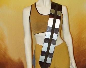 Star Wars Inspired Chewbacca Wookie Bandolier Ammunition Fuel Belt