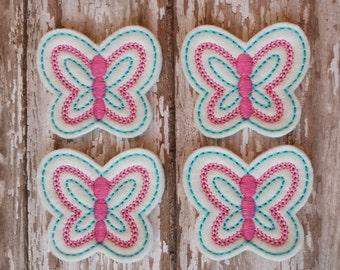 Butterfly Feltie Bright Blue W/Hot Pink