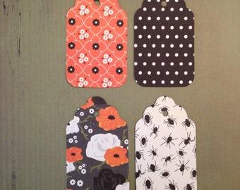 Set of 12 Halloween tags assortment, 3 sizes