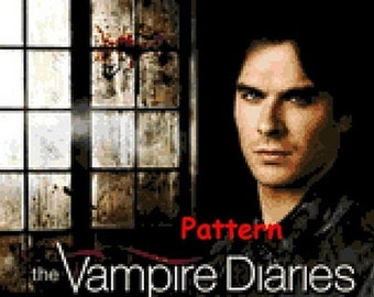Damon Salvatore. Cross Stitch Pattern. PDF Files.